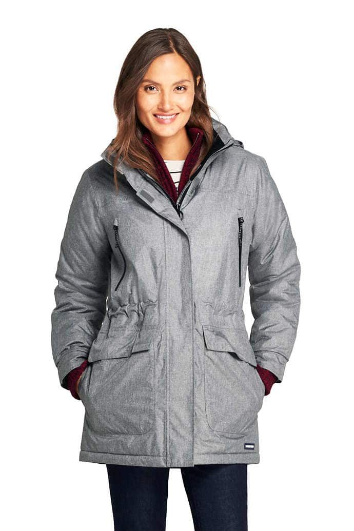 202378e4c30 Women s Heathered Squall Insulated Winter Parka from Lands  End ...