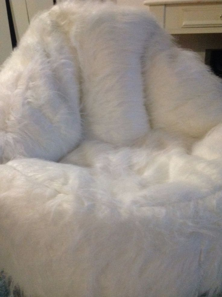 The 25 best shaggy bean bags ideas on pinterest fur bean bag giant bean bag chair and x - Leanback lounger chairs ...