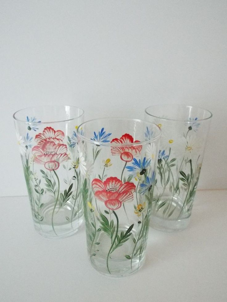 17 best images about glasses galore on pinterest flute for Hand painted drinking glasses