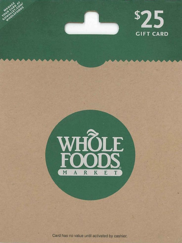 Amazon.com: Whole Foods Market $25: Gift Cards Store