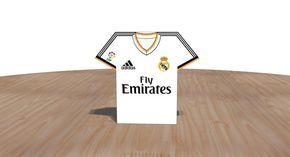 Real Madrid Caja imprimible estilo camiseta de futbol