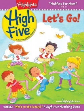 Highlights High Five Magazine for Children 2 - 6 | Preschool Magazine Okay, it's a mag, not a book, but still good stuff for kids!