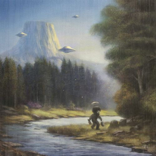 51 best bob ross pretty little tree misc artwork images nevver the truth is out there bob ross sasquatch i want to believe voltagebd Choice Image