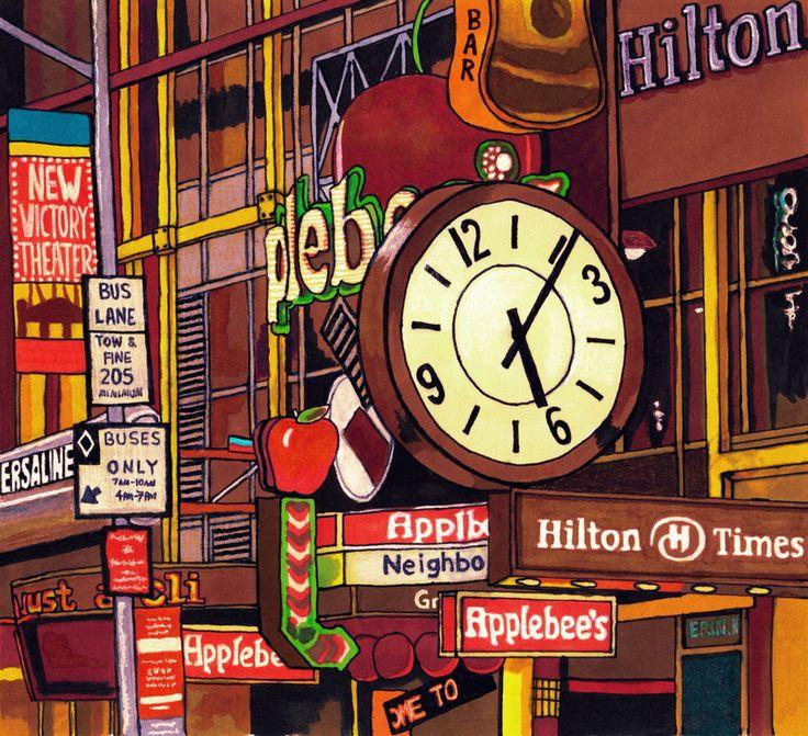 Times Square by ErinNicholls on DeviantArt