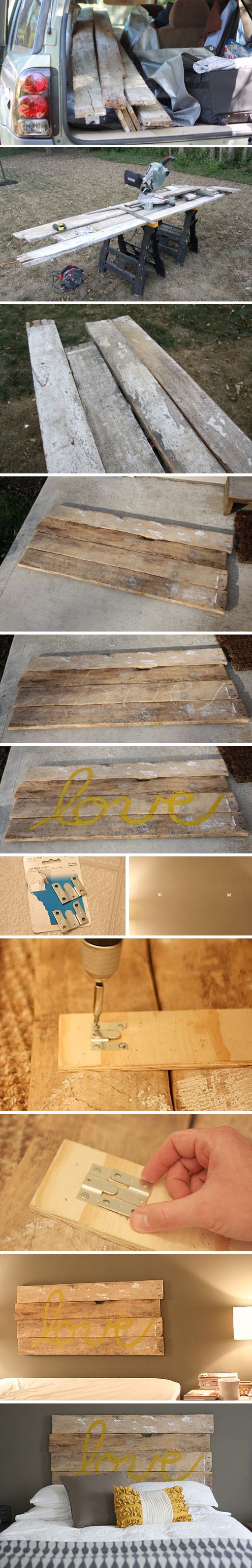 Repurposing Old Fence Boards