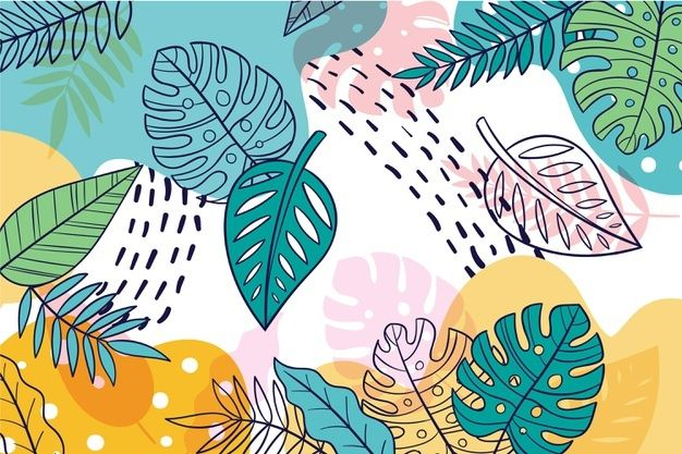 Hand Drawn Nature Landing Page Template Cute Desktop Wallpaper Background Patterns Colorful Backgrounds