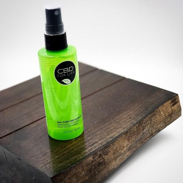 99% PURE CBD EXTRACT MENTHOL CAMPHOR PAIN RELIEF SPRAYProvides exceptional relief without the side effects of prescription pills. Lay back, relax, and let the healing powers of CBD take effect.Spray affected area with desired amount of product. No need to be rubbed in. Repeat as necessary.4 FL Oz 120 ml INGREDIENTS: ALCOHOL DENAT., HAMAMELIS VIRGINIANA (WITCH HAZEL) WATER, WATER (AQUA), PROPYLENE GLYCOL, ALCOHOL, LIDOCAINE, POLYSORBATE 20, GLYCERIN, CANNABINOID EXTRACT, ARNICA MONTANA FLOWER…