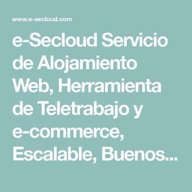e-Secloud Servicio de Alojamiento Web, Herramienta de Teletrabajo y e-commerce, Escalable, Buenos Precios; Empiece su Negocio en Línea ¡Compre su Hosting!