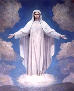 Our Lady of Medjugorje, Queen of Peace. This painting is said to have the greatest resemblance to how the Holy Mother has appeared to the six visionaries. Since the first apparition in June 1981, she has continued to appear daily. I was very blessed to visit Medjugorje in 1990.