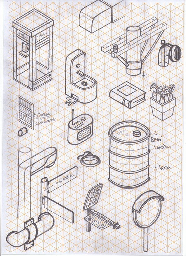 how to draw on isometric paper