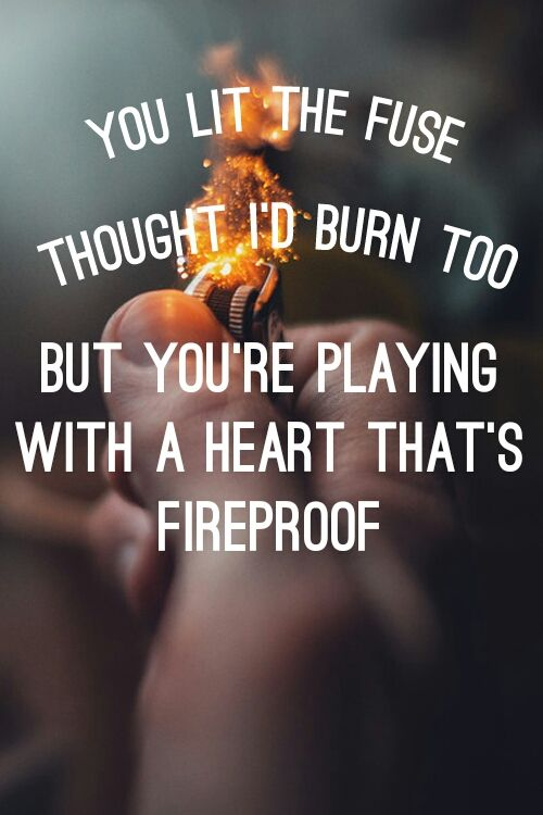 against the current // fireproof