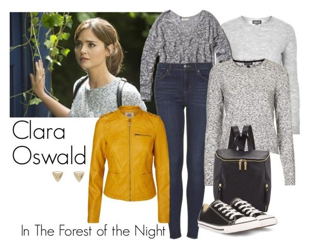 """""""Clara Oswald - In the Forest of the Night"""" by ansleyclaire ❤ liked on Polyvore featuring Episode, Topshop, Abercrombie & Fitch, Vero Moda, French Connection, Converse and House of Harlow 1960"""
