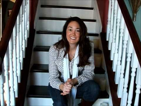 Refinish hardwood stairs that were carpeted - YouTube