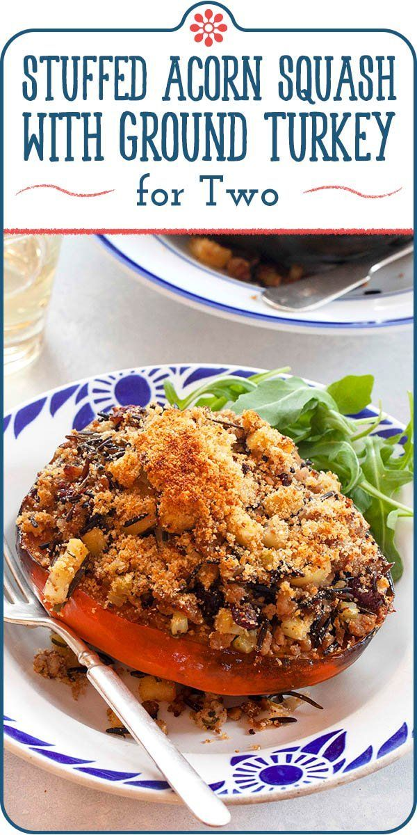 Cooking For Two Stuffed Squash With Turkey And Apples Recipe In