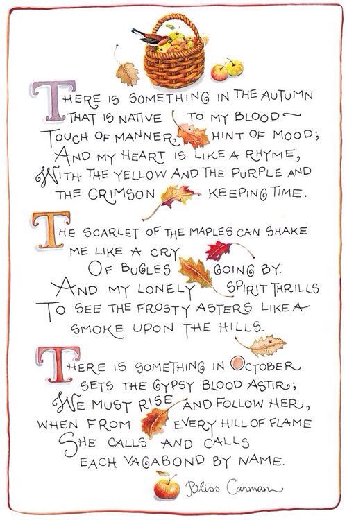 """There is something in Autumn"" by Bliss Carman // Illus by Susan Branch"