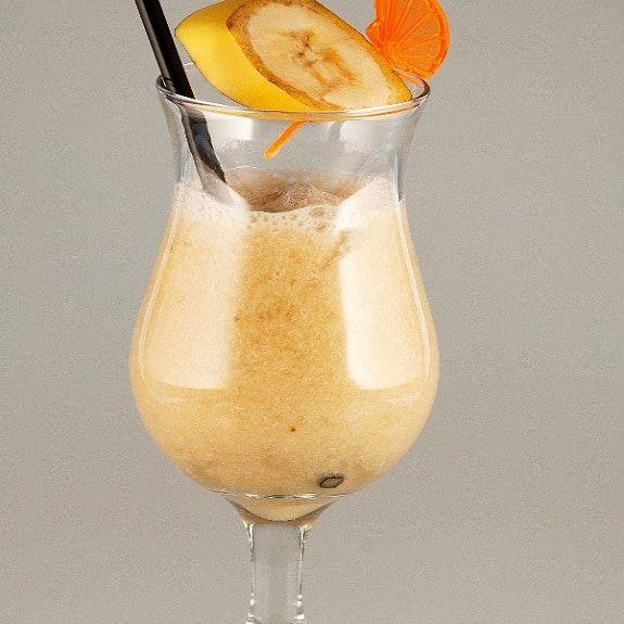 Banana daiquiri cocktail.Rum based alcoholic mixed drink.