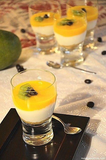 Copa de mango y mascarpone