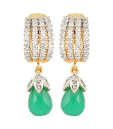 Buy Green Cubic Zirconia danglers-drops danglers-drop online