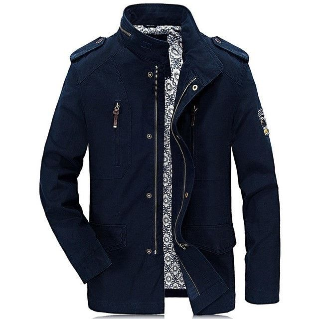 NEW Fashion Men's 100% Cotton Casual Long-Sleeve JEEP Jacket M-4XL 3 Colors