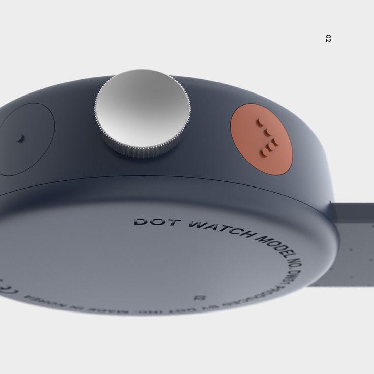 "cloudandco I design studio on Instagram: ""conceptual design l Braille smart watch by cloudandco (@yeongkyu_yoo ) PC(GF30%) case + Rubber band"""