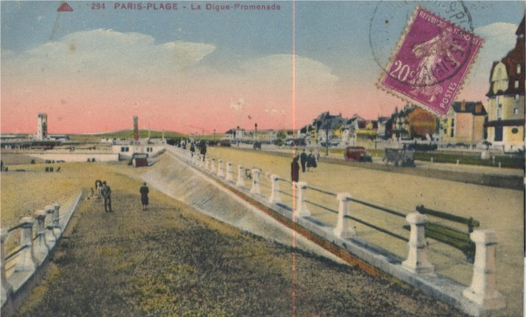 The place to be, a la mode, in the 1930s Le Touquet Paris-Plage, Cote d'opale, France