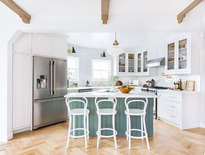 The 10 Best Green Paint Colors Designers Are Obsessed With In 2020 Modern Kitchen Design Modern Kitchen Living Room Kitchen Cabinets Uk