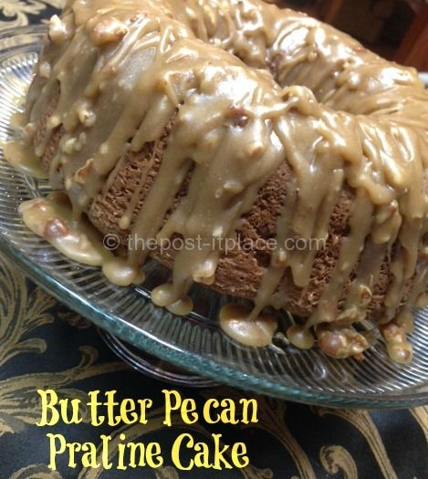 This Butter Pecan Praline Cake is to die for!! I can't wait to have it Christmas Day!!
