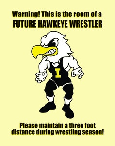 """Future Hawkeye Wrestler"" Iowa Hawkeye Wrestling Motivational Poster PTRAC112 