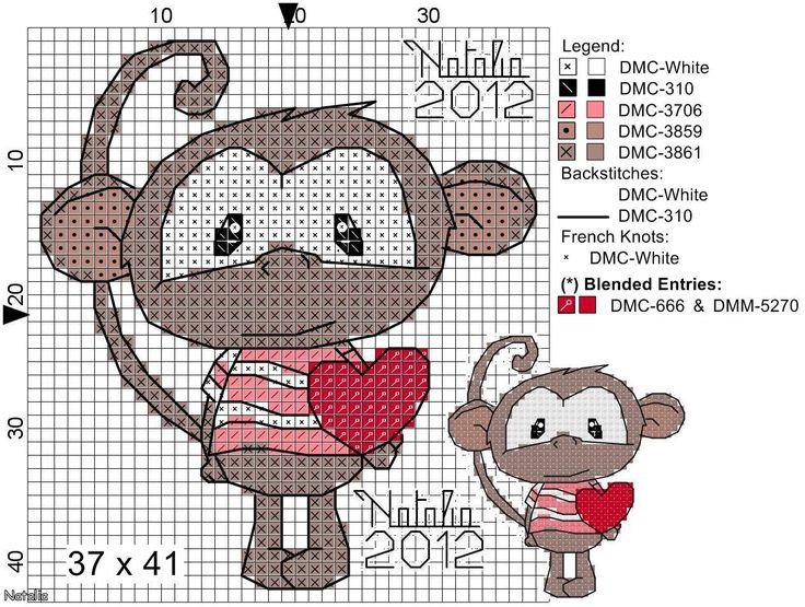 monkey cross stitch