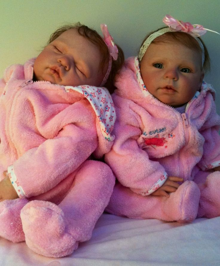 Another set of twin sugar and honey such cute girls reborn by angelsonlynursery