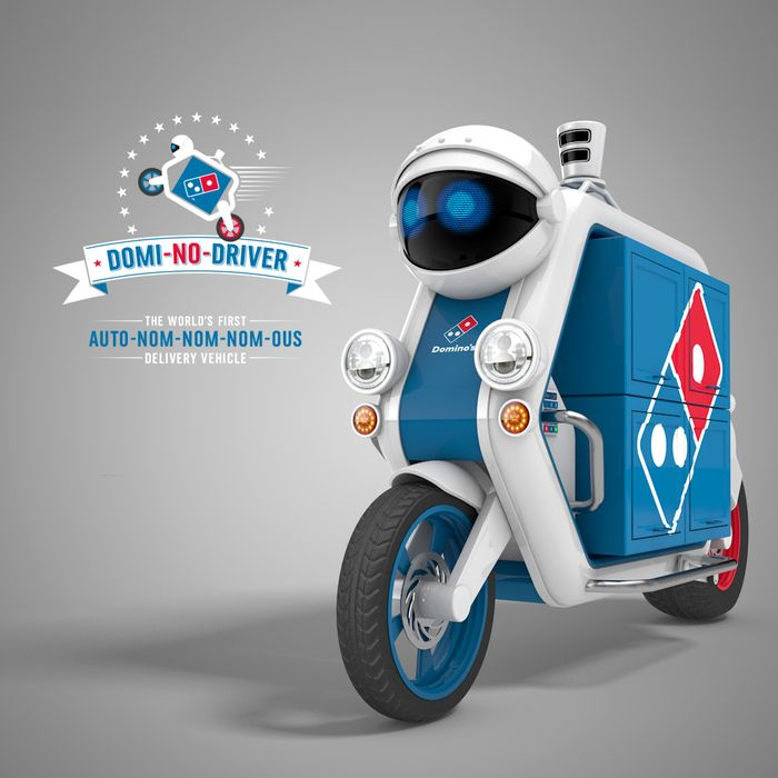 Domino Pizza Delivery Robot - http://johnrieber.com/2016/03/25/dominos-unveils-pizza-delivery-robots-china-has-noodle-robot-chefs-amazing-robot-food-is-at-your-door/