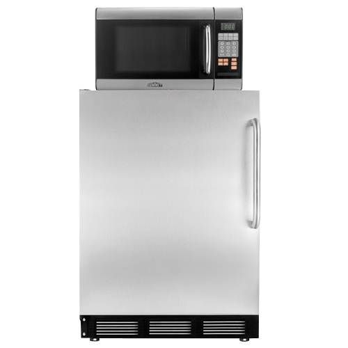 MRF67SSTB Summit Microwave Refrigerator Combo With Stainless Steel