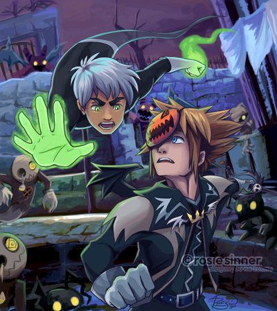 Danny Phantom & Kingdom Hearts Crossover. For some reason, I think this would be AWESOME.