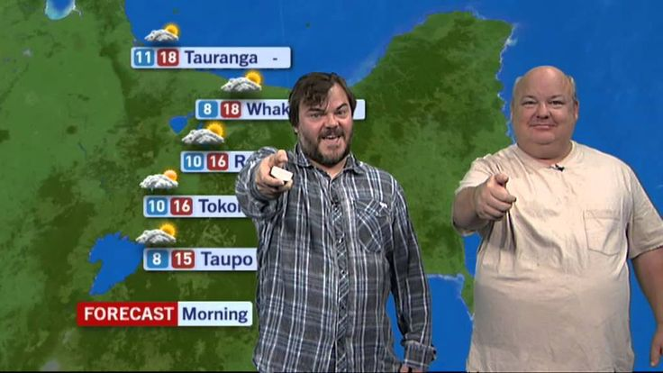 Jack Black presents the New Zealand weather forecast