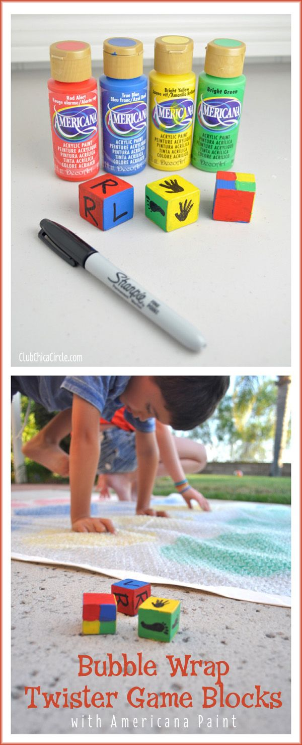 Homemade Backyard Bubble Wrap Twister Game DIY | Club Chica Circle - where crafty is contagious