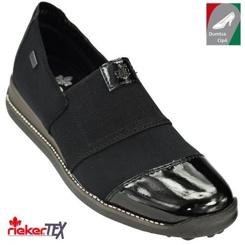 Rieker vízálló női cipő 44268-00 fekete kombi