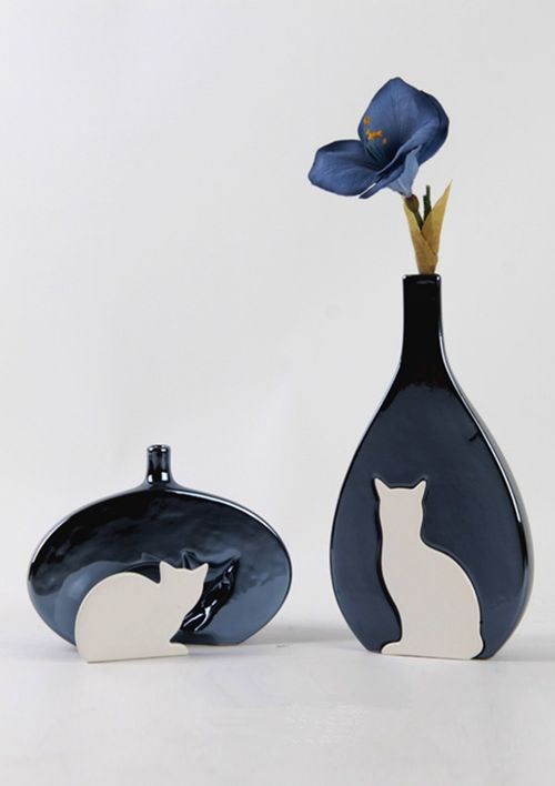 Original Vase For Unique Decor   Cat Shape Vase