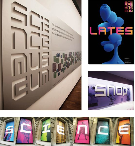 Really interesting branding ideas here in the font and the way its presented within the museum. It plays to the sc-fi technology ideas of the museum.
