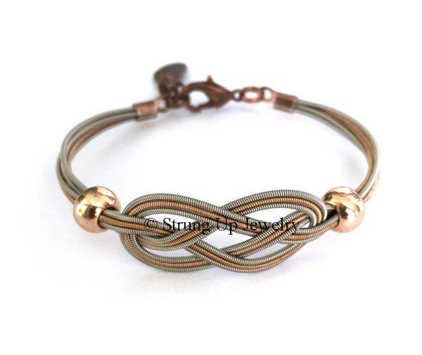 Recycled Guitar String Sailor Knot Bracelet - Original Exclusive Design | ReThrive Designs