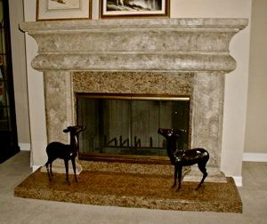 Raised Hearth Fireplace Makeover Fireplaces Pinterest