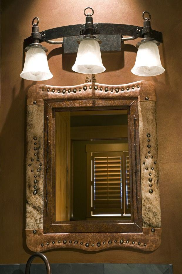 western home decor ideas   bathroom mirror with metal frame. Top 25  best Southwestern bathroom mirrors ideas on Pinterest