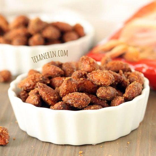 Healthier maple cinnamon candied almonds. Naturally #glutenfree, #dairyfree and #vegan.
