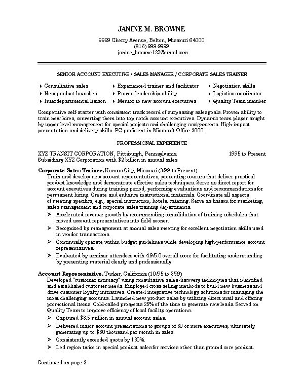 Best Professional Resume Examples  Resume Examples And Free