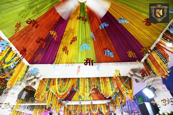 #Navratri Decoration of #Flowers And #Lights At Jhandewalan Temple