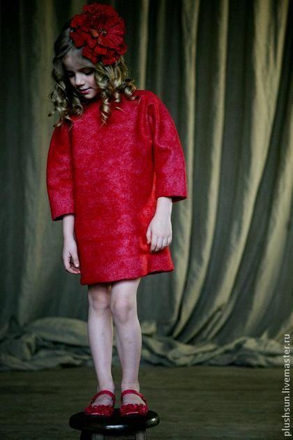 Валяное платье для девочки «Valentino». Handmade.