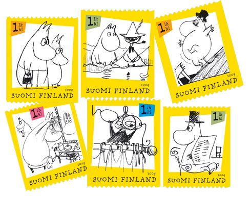 2009 Stamp booklet Moomin cartoons - six 1st class stamps