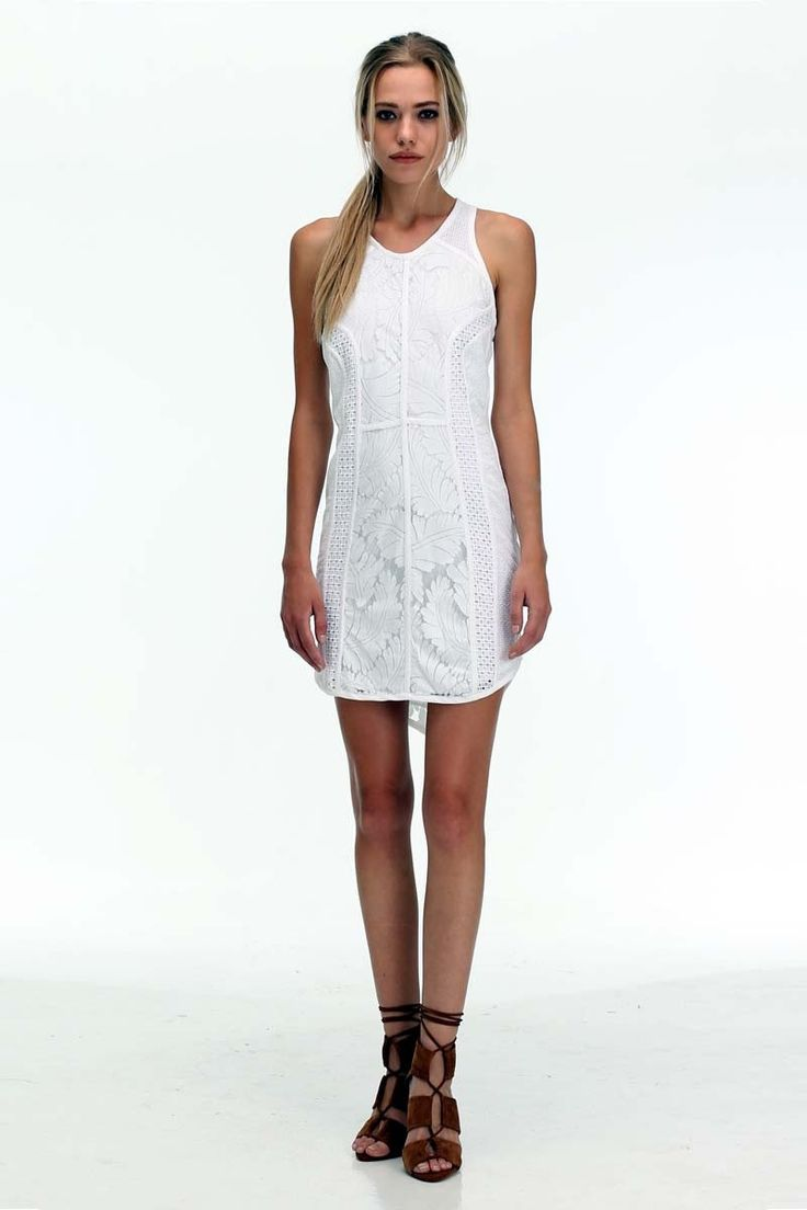The Shanti Butterfly - White Detailed Icon Lace Dress