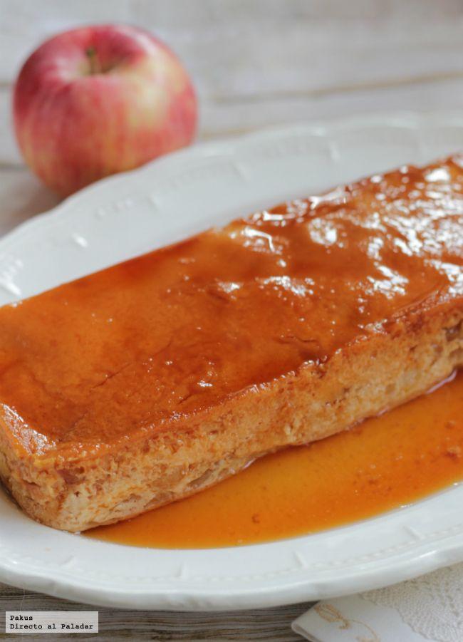 Flan de compota de manzana
