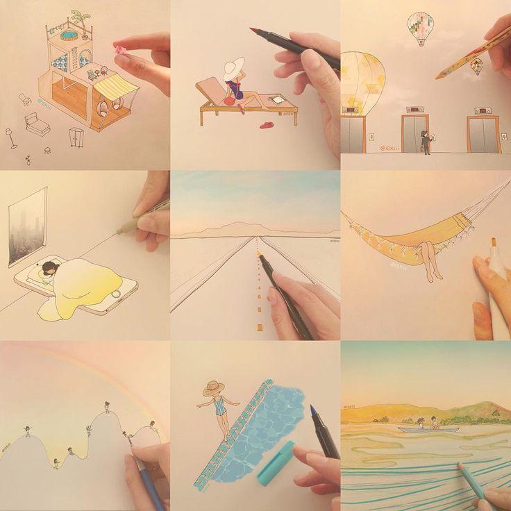 2O15 sketchbook flashback are up on www.iskistudio.com ✒️✏️ ❑