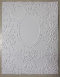 Double Embossing with the Oval Designer Frame folder - photo tutorial